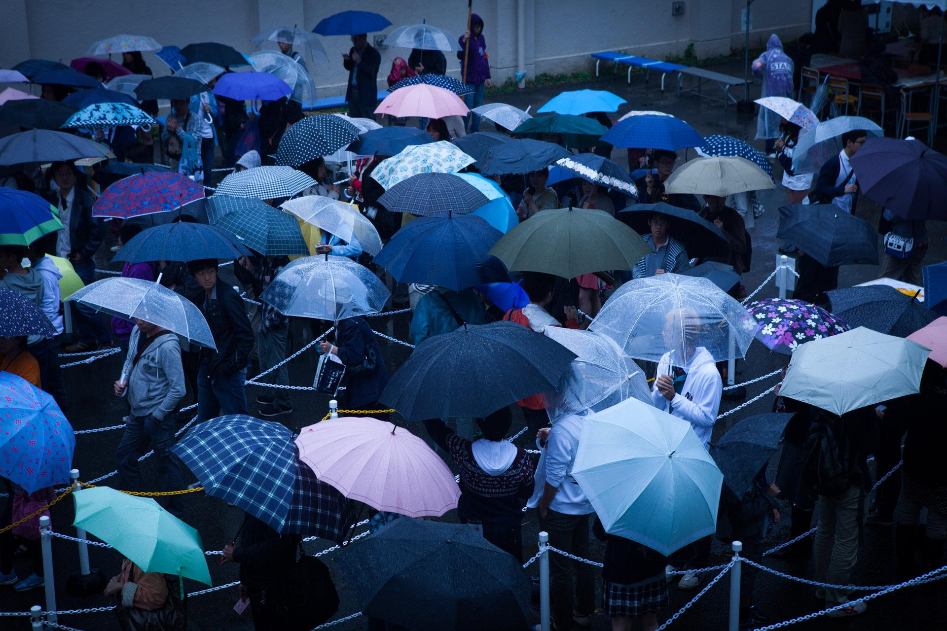 筑駒文化祭、1日目は雨